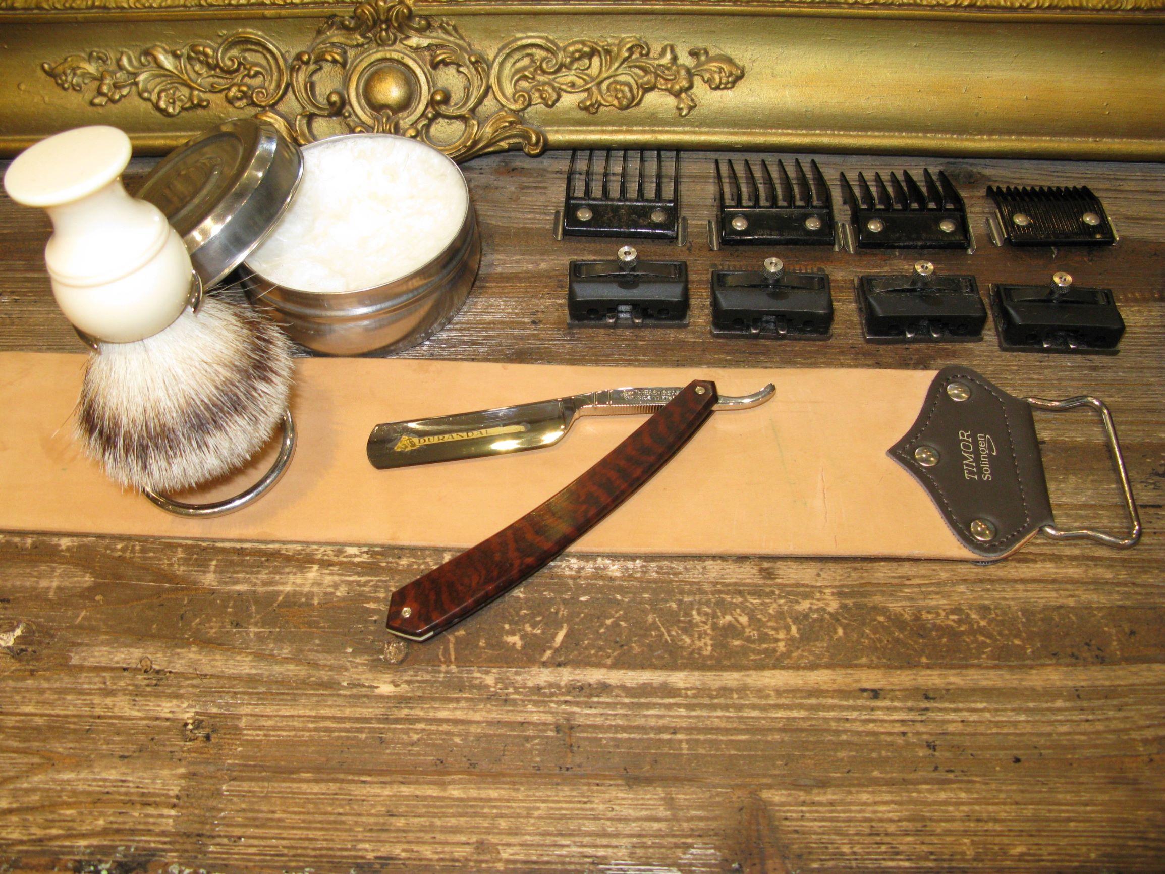 rasoir coupe-chou avec cuir